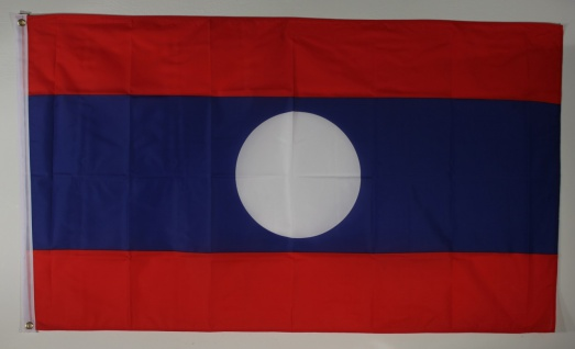 Flagge Fahne : Laos Nationalflagge Nationalfahne