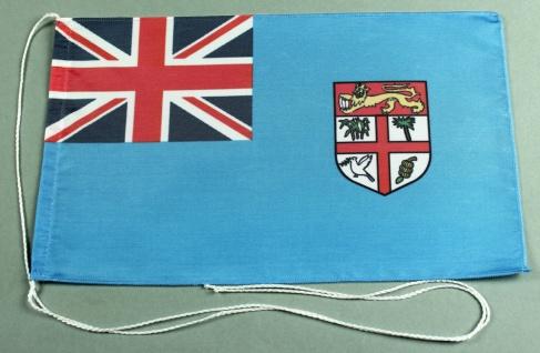Tischflagge Fidschi Inseln 25x15 cm optional mit Holz- oder Chromständer Tisc...