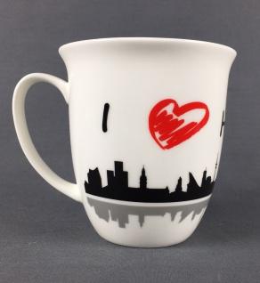 I love Hamburg Kaffeebecher Skyline 400ml Souvenir Kaffeetasse Kaffee Becher ... - Vorschau 2