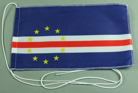 Tischflagge Kap Verde 25x15 cm optional mit Holz- oder Chromständer Tischfahn...