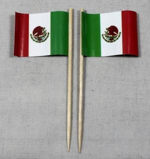 Party-Picker Flagge Mexiko Papierfähnchen in Spitzenqualität 50 Stück Beutel