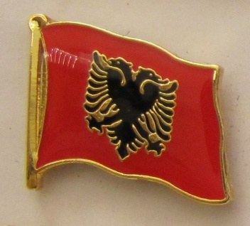 Pin Anstecker Flagge Fahne Albanien Flaggenpin Button Badge Flaggen Clip Anst...