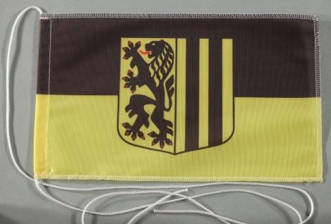 Tischflagge Dresden Stadtflagge 25x15 cm optional mit Holz- oder Chromständer...
