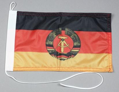 Bootsflagge : DDR 30x20 cm Motorradflagge