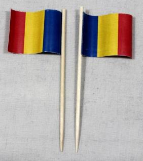 Party-Picker Flagge Rumänien Papierfähnchen in Spitzenqualität 50 Stück Beutel