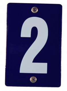 Hausnummernschild 2 Emaille Hausnummer Schild 12x8 cm Haus Nummer Zahl Ziffer...