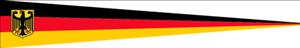 Langwimpel Deutschland mit Adler 30x150 cm