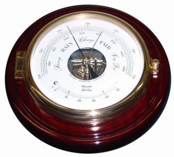 Schiffs - Barometer 210 mm Messing / Holz - Vorschau