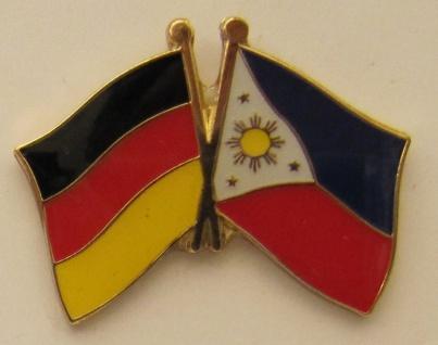 Philippinen / Deutschland Freundschafts Pin Anstecker Flagge Fahne Nationalfl...