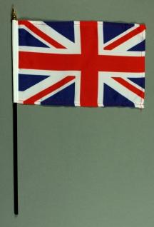 Tischflagge Grossbritannien 15x25 cm BASIC optional mit Tischflaggenständer