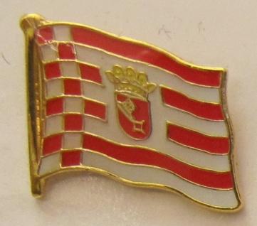 Pin Anstecker Flagge Fahne Bremen Stadtflagge Flaggenpin Button Badge Flaggen...