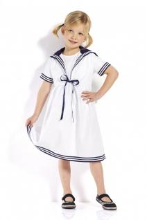 Kinder Matrosenkleid weiß Kinderkleidung Kinderkleid alle Größen