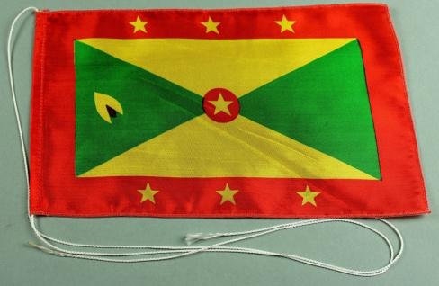 Tischflagge Grenada 25x15 cm optional mit Holz- oder Chromständer Tischfahne ...