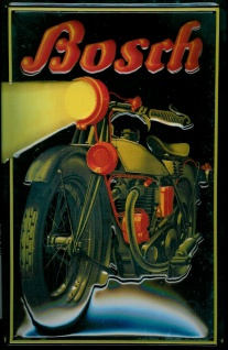 Blechschild Bosch Motorrad Scheinwerfer Lampe Schild Nostalgieschild
