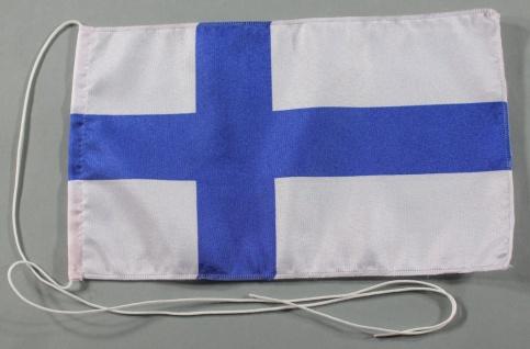 Tischflagge Finnland 25x15 cm optional mit Holz- oder Chromständer Tischfahne...