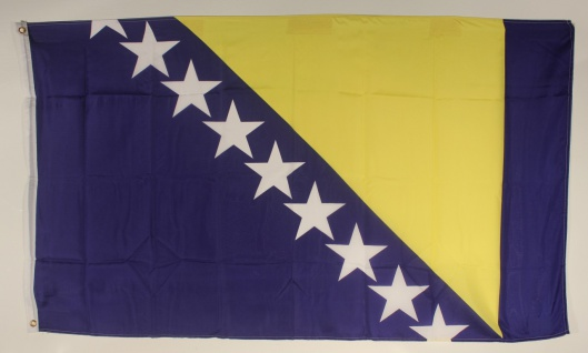 Flagge Fahne : Bosnien-Herzegowina Nationalflagge Nationalfahne