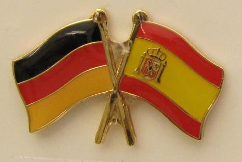 Spanien / Deutschland Freundschafts Pin Anstecker Flagge Fahne Nationalflagge