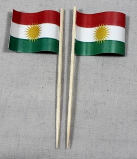 Party-Picker Flagge Kurdistan Papierfähnchen in Spitzenqualität 50 Stück Beutel