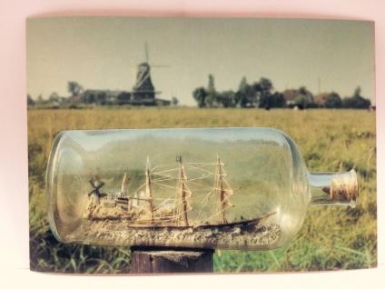 Buddelschiff - Postkarte ec09