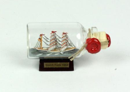 Gorch Fock Mini Buddelschiff 10 ml 6x3, 5 cm Flaschenschiff