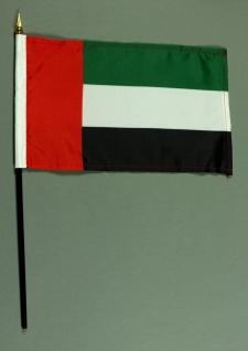 Tischflagge Vereinigte Arabische Emirate VAE 15x25 cm BASIC optional mit Tisc...