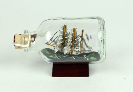 Belem Mini Buddelschiff 50 ml ca. 7, 2 x 4, 5 cm Flaschenschiff - Vorschau 2