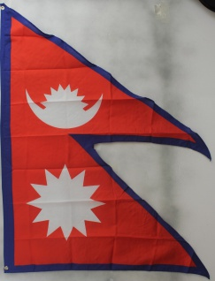 Flagge Fahne : Nepal Nationalflagge Nationalfahne