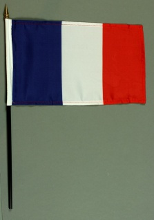Tischflagge Frankreich 15x25 cm BASIC optional mit Tischflaggenständer
