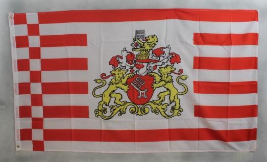 Flagge Fahne Bremen große Wappen bremer Bremenflagge
