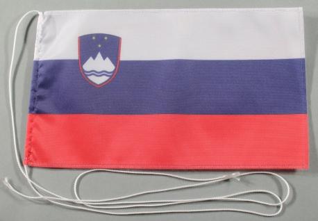 Tischflagge Slowenien 25x15 cm optional mit Holz- oder Chromständer Tischfahn...