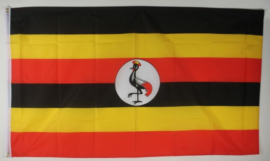 Flagge Fahne : Uganda Ugandaflagge Nationalflagge Nationalfahne