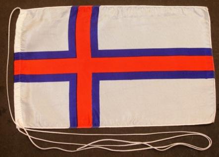 Tischflagge Faroer Inseln 25x15 cm optional mit Holz- oder Chromständer Tisch...