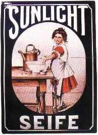 Blechschild Sunlicht Seife (2) Schild retro Werbeschild Nostalgieschild