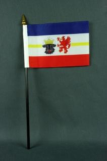 Kleine Tischflagge Mecklenburg Vorpommern 10x15 cm optional mit Tischfähnchen...