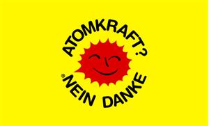 Flagge Fahne Atomkraft Nein Danke 90x60 cm - Vorschau