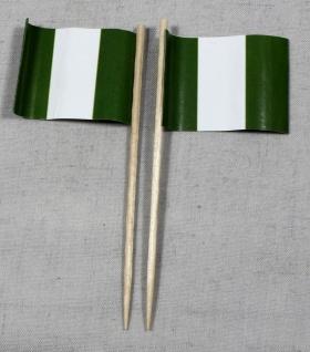 Party-Picker Flagge Nigeria Papierfähnchen in Spitzenqualität 50 Stück Beutel