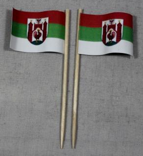 Party-Picker Flagge Frankfurt Oder Papierfähnchen in Spitzenqualität 50 Stück...