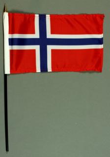 Tischflagge Norwegen 15x25 cm BASIC optional mit Tischflaggenständer