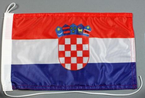 Bootsflagge : Kroatien 30x20 cm Motorradflagge