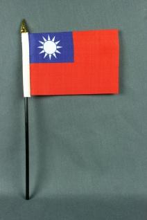 Kleine Tischflagge Taiwan 10x15 cm optional mit Tischfähnchenständer