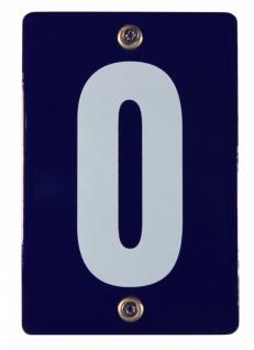 Hausnummernschild 0 Null O Emaille Hausnummer Schild 12x8 cm Haus Nummer Zahl...