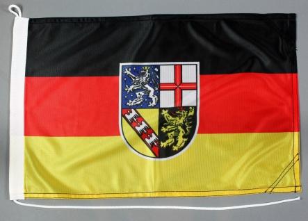 Bootsflagge Saarland 30x45 cm Motorradflagge Bootsfahne