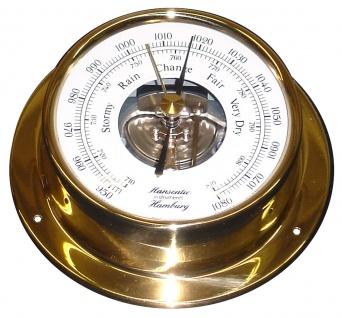 Schiffs Barometer 110 mm Messing Economy
