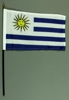 Tischflagge Uruguay 15x25 cm BASIC optional mit Tischflaggenständer