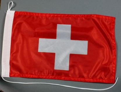 Bootsflagge : Schweiz 30x20 cm Motorradflagge Schweizerfahne