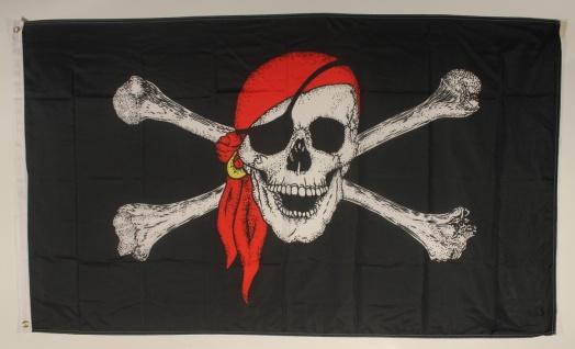 Pirat mit Kopftuch Flagge Großformat 250 x 150 cm wetterfest