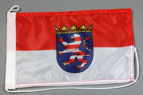 Bootsflagge : Hessen 30x20 cm Motorradflagge