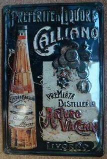 Blechschild Galliano Liquore Likör Aperitif retro Schild Werbeschild Kneipe D...