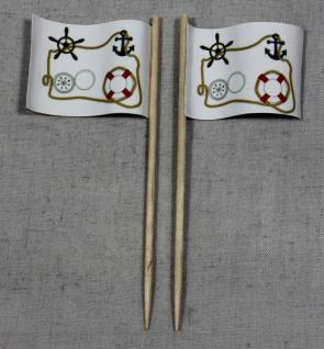 Party-Picker Flagge Maritim Papierfähnchen in Spitzenqualität 50 Stück Beutel