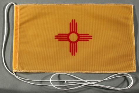Tischflagge New Mexico USA Bundesstaat US State 25x15 cm optional mit Holz- o...